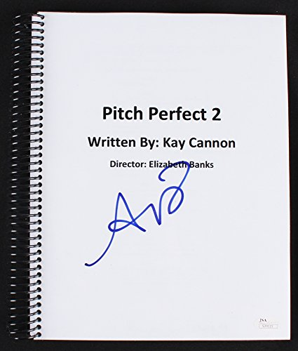 "Adam Devine Signed ""Pitch Perfect 2"" Full Movie Script (JSA COA)"