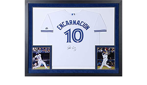 a4f6bfd7 Edwin Encarnacion Toronto Blue Jays Deluxe Framed Autographed White Youth  Replica Jersey - Fanatics Authentic Certified at Amazon's Sports  Collectibles ...