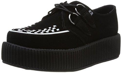 T.U.K.. - Mondo Sole Round Creeper, Sneaker Donna Nero (Black/White)