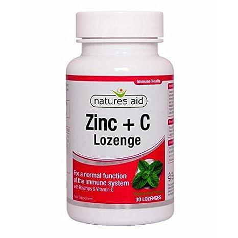 Natures Aid pastillas de zinc con rosa mosqueta y vitamina C 30 por paquete: Amazon.es: Salud y cuidado personal
