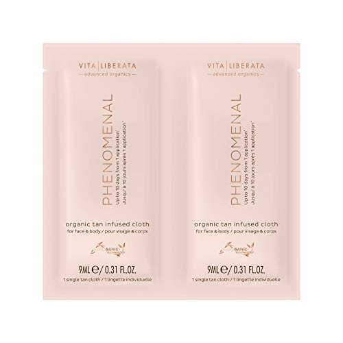 Vita Liberata Phenomenal Organic Tan Infused Cloths 16 Pack, 119 g.