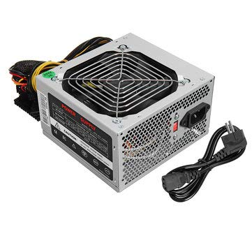 500W PSU PFC ATX 24pin Sata Computer Gaming Power Supply For PC CAN - Electrical Equipment & Supplies Other Electrical Equipment - (Black) -