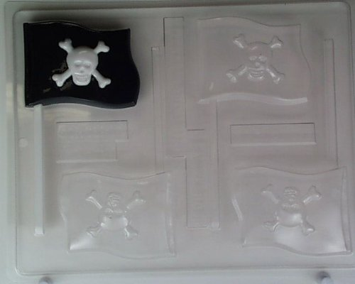 Pirate flag H081 Halloween Chocolate Candy Mold
