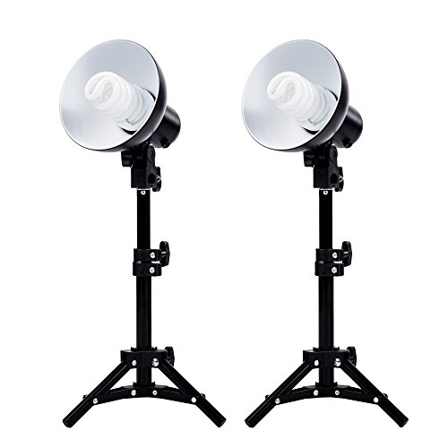 Fovitec  StudioPRO – 2x Product Photography Fluorescent Lamp Lighting Kit – [2x][CFL][Lamps and Bulbs Included]