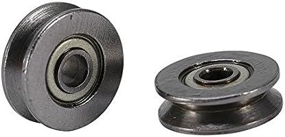 20pcs V623ZZ V Rodamiento de Bolas Polea de Acero al Carbono para Rail Linear Linear System 3x12x4mm