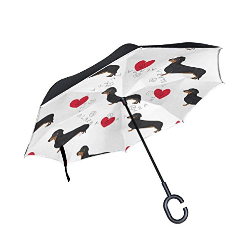 MAOXUXIN Cat Kitten British UK Flag Inverted Umbrella, Large Double Layer Outdoor Rain Sun Car Reversible Umbrella (Sun Umbrella Uk Patio)