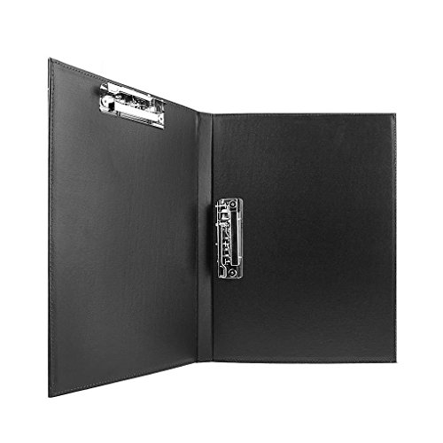 clobeau upscale leather a4 lever arch file cover clipboard paper