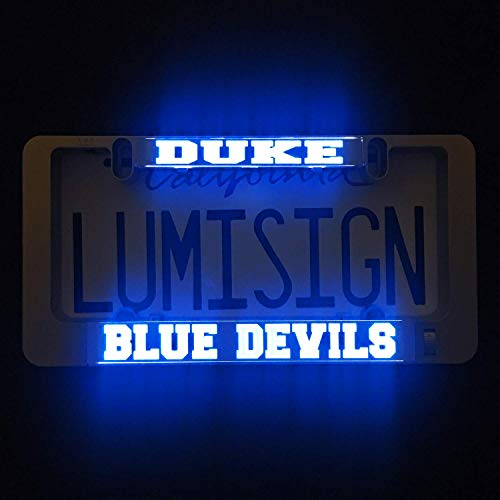 LumiSign - The Auto Illuminated License Plate Frame | Lights Up While You Brake | Installs in Seconds | No Wires, Battery Operated | Interchangeable Inserts (Duke) ()