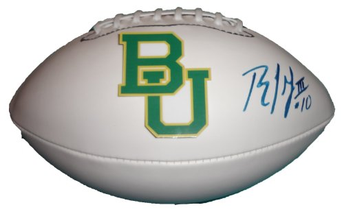 - Robert Griffin III Autographed Baylor Bears Logo Football W/PROOF, Picture of Robert Signing For Us, Washington Redskins, Baylor Bears, Heisman Trophy Award, RGIII