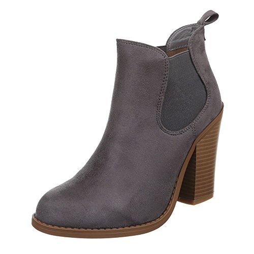 Ital-Design - Botas De Vaquero Mujer gris