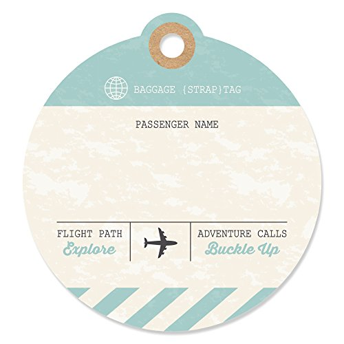World Awaits - Travel Themed Party Favor Gift Tags (Set of 20)