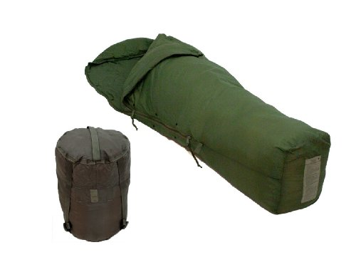 US Military Temperate Weather Sleeping Bag and Compression Carry Sack