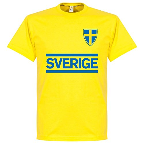 Svezia Team-Maglietta, colore: giallo