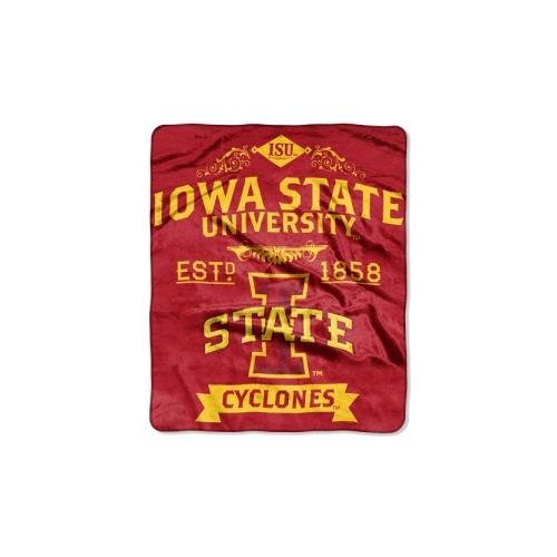 NCAA Iowa State Cyclones Label Plush Raschel Throw, 50