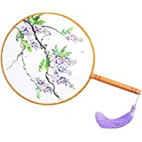 Elegant Hand Fan Aulic Circular Fan Chinese Fans Handheld Fan Mandarin Fan Q