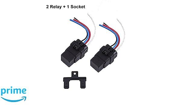 Amazon com: DC Relay 12V 4 Pin, Automotive Relay 12V 40A Waterproof