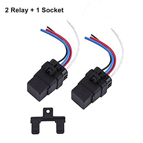 - DC Relay 12V 4 Pin, Automotive Relay 12V 40A Waterproof