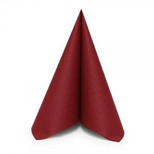 Simulinen Dinner, Catering & Party Napkins - Burgundy - Decorative Colored Napkin - Durable, Elegant, Cloth Like & Disposable (16