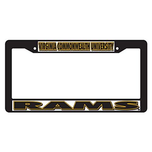 Virginia Commonwealth Plastic_PlateFrame BLK PLATE FRAME VC (Blk Ram)