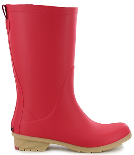 Chooka Bainbridge Fleece Lined Rain Boot Red 7zyJD