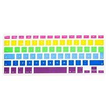 "HRH Swedish language Keyboard Cover for MacBook Pro 13"" 15"" 17"" Aluminum Unibody and MacBook Air 13"" European/ISO Keyboard Layout Silicone Skin (Rainbow)"