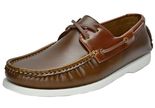 Bruno Marc Men's Bahama Tan Brown Loafers Boat Shoes – 11 M US