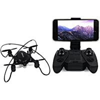 GordVE RC Drone FPV Wifi RC Quadcopter 2.4GHz 6-Axis Gyro Remote Control Drone With Altitude Hold and Hand Launching-Black