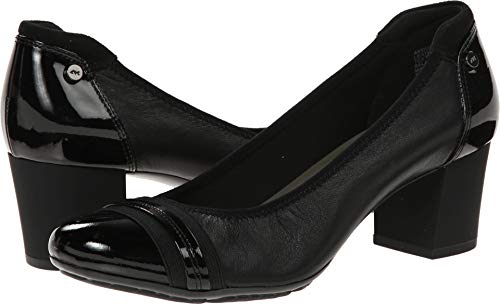 Anne Klein Sport Women's Guardian Leather Dress Pump, Black, 8 M US