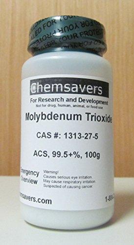 Molybdenum Trioxide, ACS, 99.5+%, 100g - Molybdenum Mineral Supplement