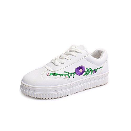 Zapatos ocasionales de las señoras en primavera/zapatos con baja impresión/Zapato respirable cabeza Coreano/Estudiante bromista zapatos de los deportes A