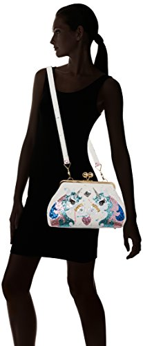 Irregular Choice Magic Pony - Borse a tracolla Donna, White (White Multi), 16x21x34 cm (W x H L)