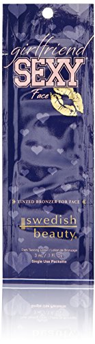 New Sunshine Swedish Beauty Girlfriend Sexy Face Packette, 0.1 Ounce Pack Of 10) - 0.1% Lotion