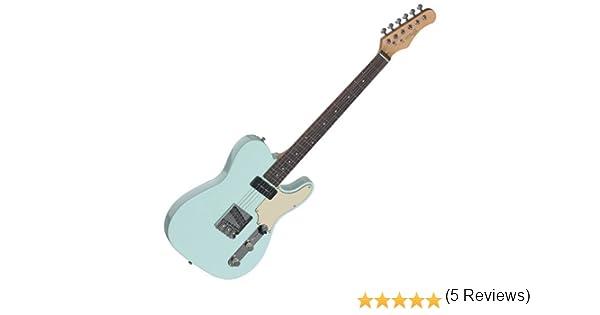 Guitarra septiembre Stagg eléctrico, mod. Telecaster, Azul: Amazon ...