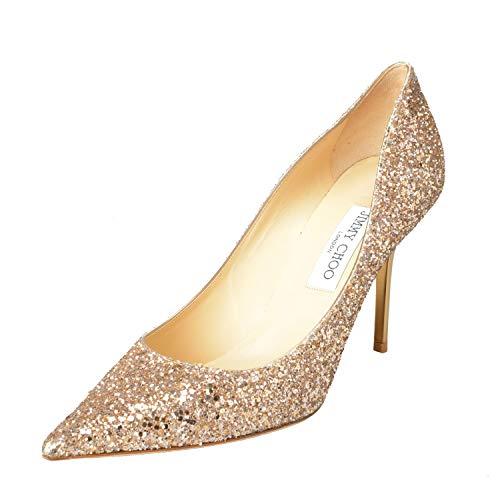 "JIMMY CHOO ""Agnes Women's Sparkle Leather High Heel Pumps Shoes Sz US 10 IT 40 Nude Beige from JIMMY CHOO"