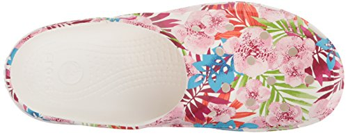 white Femme Clog Women Graphic Floral Multicolore Freesail Sabots Crocs tropical wqp7zn