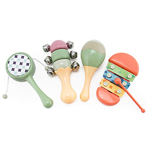 Early Learning Rhythm Set - Toddler Musical Instruments, Xylophone, Rattle, Maracas, Sleigh Bell Percussion Toy Rhythm Band Set, Preschool Education, Early Learning Musical Toy for Boys and Girls Birthday Gifts Present