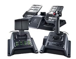 Logitech Flight System G940 - Volante/mando (Simulador de Vuelo, Alámbrico, Negro, CD-ROM USB 2.0, Windows XP/Windows Vista/Windows7)