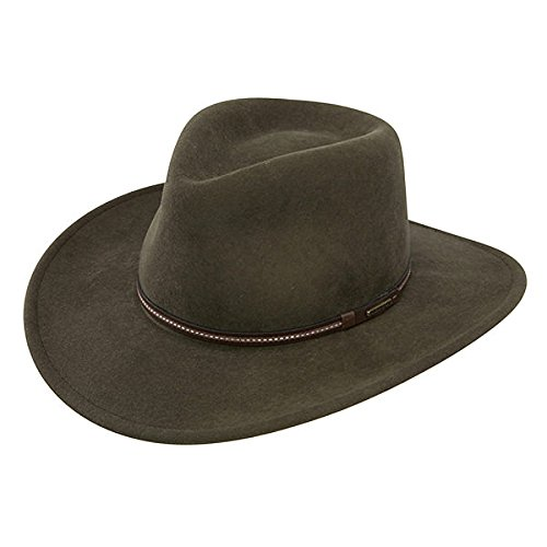 (Stetson Men's Gallatin Sage Green Crushable Wool Hat Sage Large)