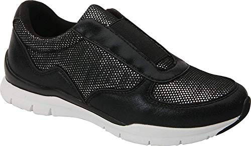 Ros Hommerson Womens Fanny Low Top Slip On Fashion Sneakers, Black, Size 7.5 -