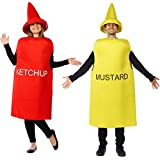 Ketchup and Mustard Costume - Couples Costumes for Adults - Mascot Costume - Food Costumes by Tigerdoe