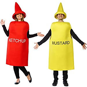 Halloween Ketchup and Mustard Couple Costume