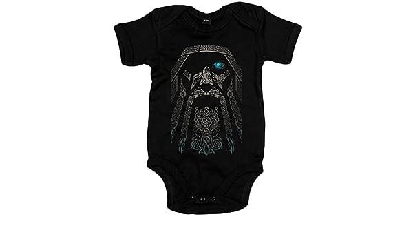 Body bebé rostro del dios vikingo Odín Vikings - Negro, 6-12 meses: Amazon.es: Bebé