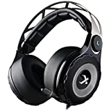XIBERIA T18D Virtual 7.1 Surround Sound Gaming Headset Noise Isolation Wired Over Ear Stereo Headphones with Retractable Microphone and 3.5mm 4pin Interface for PC / Laptop / Xbox One / PS4 - Black