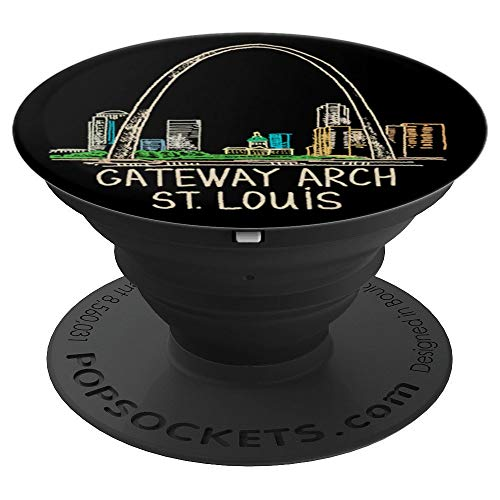Gateway Arch St Louis - PopSockets Grip and Stand for Phones and Tablets