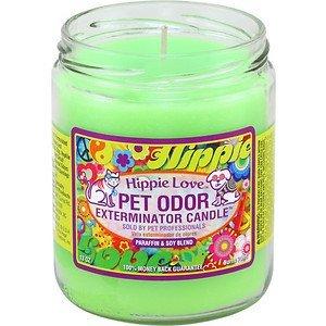 Hippie Love Pet Odor Exterminator Candle (Pet Odor Eliminator Candles)