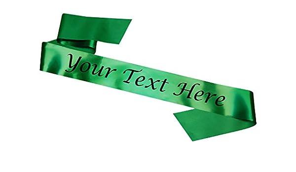 Bandas personalizables Verde Despedida de soltera Cumpleaños ...