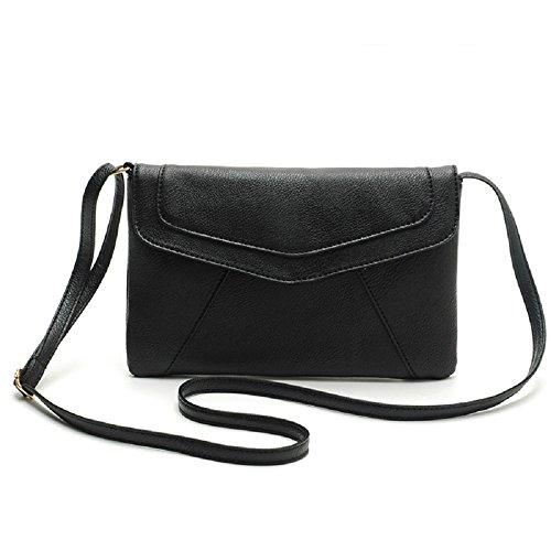 Women Shoulder Bag, Rcool Women Envelope Satchel Cross Body Bag Shoulder Messenger Bags Vintage Handbags Black
