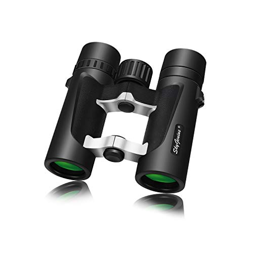 Small Compact Lightweight Binoculars for Travel(Waterproof/Fogproof), Powerful Pocket Binoculars 8×25 for Adults Kids Bird Watching Concerts Sightseeing Hunting Wildlife Watching (BAK4, Green Lens)