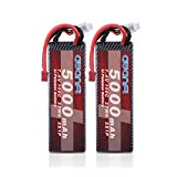 AWANFI 2S LiPo Battery 7.4V 5000mAh 100C Hardcase Lipo RC Battery Pack with Deans Plug Connector for RC Cars Traxxas RC Truck RC Truggy RC Helicopter Airplane Drone(2 Pack)