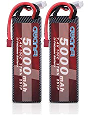 AWANFI 2S LiPo Battery 7.4V 5000mAh 100C Hardcase Lipo RC Battery Pack with Deans Plug Connector for RC Cars